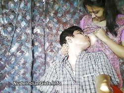 Sexy Indian Wife with her Lover Enjoying Sucking Boobs Pics