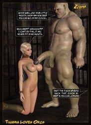 Tihanna Loves Orcs [Part 2] porn comic
