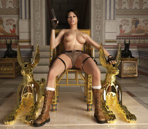 Lara Croft � Foot Job 2