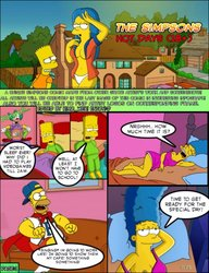 The Simpsons Hot Days (18+) (edited image comic)