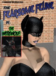 CAPTURED-HEROINES - The Fearsome Feline vs The Werewolf comic
