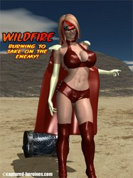 Captured-Heroines - Wildfire - Burning To Take On the Enemy