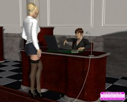 Cuprum's 3D Lesbo Babes-Boss lady and her secretary in the office