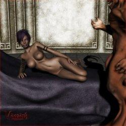 Vaesark-Demon and ebony girl