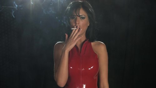 Mistress Ella Mai smoking POV domination in latex