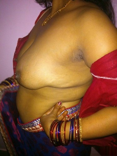 You half saree naked boobs