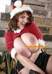 Big Tits Natural MILF Santa Christmas Stockings