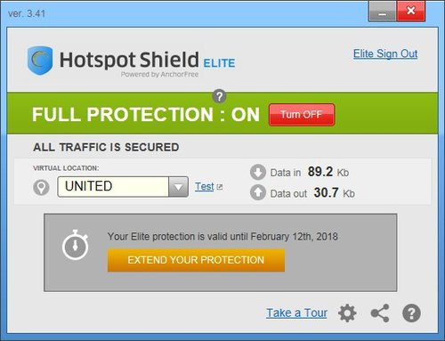 hotspot shield licence number